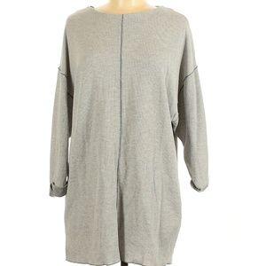 Zara w/b collection long-sleeve knit dress